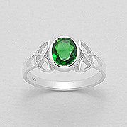 Ring Celtic Knot with Stone 57-767-174