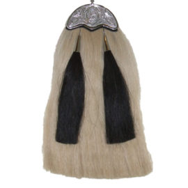 White Horsehair celtic cantle r