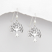 Earrings Dainty Tree of Life 57-767-536
