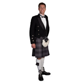 Hamilton Gray Kilt with Prince Charlie