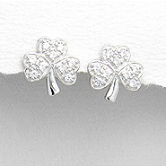Earring Sparkle Shamrock 125-1076-32