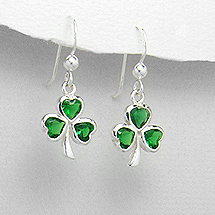 Earrings Shamrock Green 125-1076-26